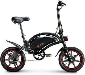 DYU 14 Zoll Faltrad Klapprad Elektrofahrrad Electric E-Bike 25km/h 10Ah Battery 350W Elektrofahrrad mit-Unisex