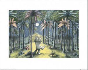 Wo Die Wilden Kerle Wohnen Poster Kunstdruck - Max Im Wolfskostüm, Maurice Sendak (40 x 50 cm)