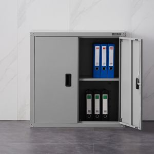 AREBOS Aktenschrank Büroschrank Lagerschrank Materialschrank Stahlschrank Grau