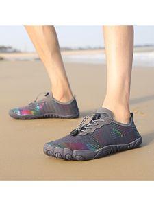 Uni-Strandschuhe Freizeitschuhe Schuhe mit flachen Sohlen wasserdichte und atmungsaktive Sportschuhe,Farbe: Dunkelgrau,Größe:39