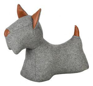 türstopper Hond 31,4 x 26,9 cm Filz grau/hellbraun