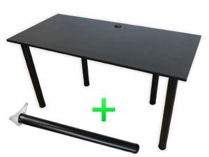 135x65 - Schreibtisch Computertisch Arbeitstisch Bürotisch Laptoptisch Gaming - Schwarz
