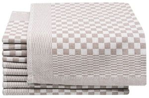 10er Set Geschirrtücher aus Baumwolle, 46x70 cm, braun