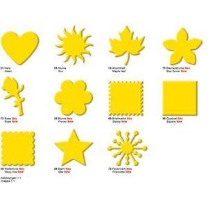 Großer Motivlocher Briefmarke, gelb