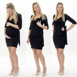3in1 Umstandskleid Kleid Schwangerschaftskleid Umstandsmode Stillkleid  XL Schwarz