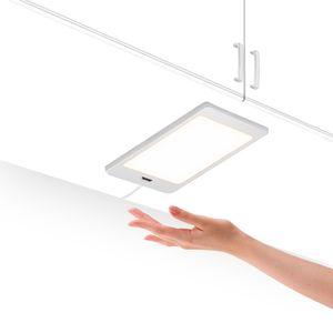LED Unterbauleuchte Unterschrankleuchte Küche Flach 5W mit Berührungsloser Sensor Schalter Hohe Helligkeit 450Lm Beleuchtung Neutralweiß 4000K 1er Lampe und 1er Netzteil von Enuotek
