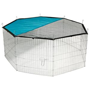 Kerbl  Freilaufgehege Verzinkt 8-eckig inkl. Netz und Sonnenschutz