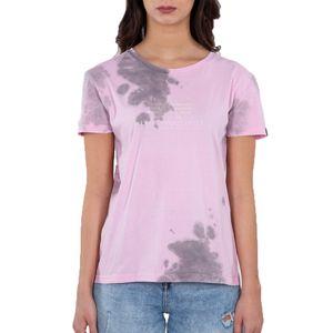 Alpha Industries Damen Basic T-Shirt Batik Wmn pastel grey batik L