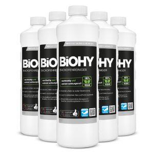 BiOHY Backofenreiniger Hochkonzentrat (6x1l Flasche) | Profi Grillreiniger, Fettlöser EXTRA STARK | Zur einfachen und schnellen Ofenreinigung | Löst hartnäckigste Verkrustungen