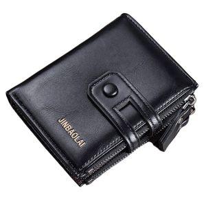 Geldbörse Damen Leder Geldbeutel Damen Viele Fächer mit 10 Kartenfächer Hochformat Portemonnaie Frauen RFID Schutz Portmonee Reißverschluss