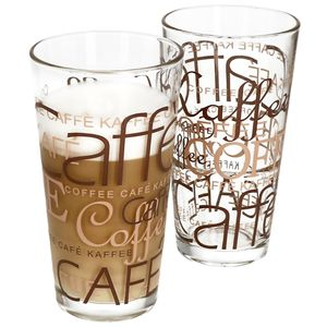 2er Latte Macchiato Gläser-Set 370 ml stapelbar Kaffee-Glas Cappuccino