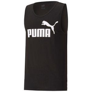 PUMA Herren ESS Essential Logo Tank SL Tee / T-Shirt Tanktop, Größe:M, Farbe:Schwarz (Puma Black)