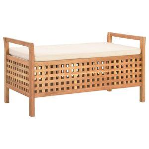 vidaXL Sitzbank mit Stauraum 93×49×49 cm Walnuss Massivholz