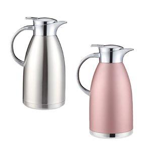 2 Stück Isolierte Tee Kaffeekanne Teekanne Vakuum Thermo Krug Doppelwand 1,8 L