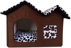 Haustier Haus Hund Katze Bett Höhlenbett Faltbar abnehmbar Klein Hundehaus Hundehöhle Kuschelhöhle