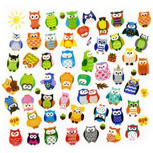 Oblique Unique 62 Eulen Sticker Aufkleber Set Deko Kinder