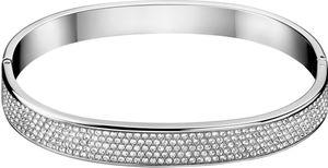 Calvin Klein Jewelry Hook KJ06WD0401 Damenarmreif Mit Kristallsteinen, Armreifgröße:M (62x49mm/222mm)