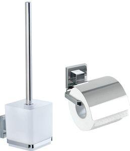 WC-Set WC-Garnitur Toilettenpapierhalter ohne Bohren Vacuum-Lock Quadro
