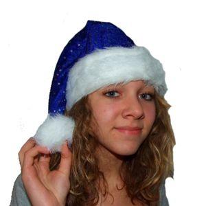 Nikolausmütze blau mit Bommel