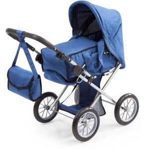 Bayer Design 13635AA City Star, Kombi Puppenwagen, für Puppen bis ca. 46cm, mit herausnehmbarer Tragetasche und Umhängetasche, b