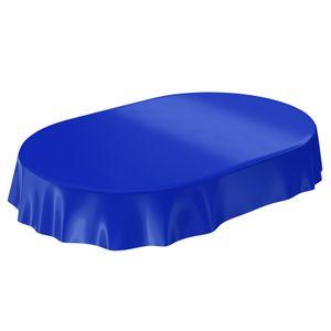 Uni Dunkelblau Einfarbig Oval 200x140cm Wachstuch Tischdecke