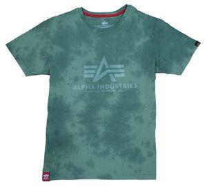 Alpha Industries Herren T-Shirt Basic Batik dark olive L