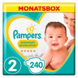 Pampers Premium Protection New Baby Gr.2 Mini 4-8kg MonatsBox, 240 Stück - Größe 2 - 240 Stück