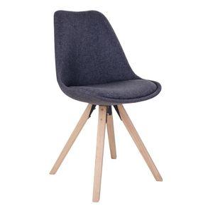 2x Esszimmerstuhl BENNO dunkelgrau Holz Retro Stuhlgruppe Schalenstuhl