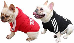 Hundemantel Hund Hoodies Kleidung, Pet Puppy Katze Niedlicher Baumwoll Warm Hoodies Coat Pullover, Rot+Schwarz, S