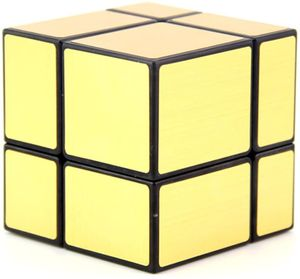 Lernspielzeug Irregular 2X2X2 Spiegel Zauberwürfel 3D Magic Puzzlewürfel(Gold)