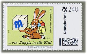 3 Cartoon-Briefmarken 'Ostern grün' á 240ct., 2015 M-ware® ID15584