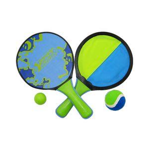 Best Sporting Beach Game Set Schläger Fangscheiben Klettbälle blau grün, Design:Schläger