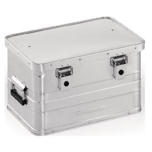 PROMAT Aluminiumbox Klappverschluss und Zylinderschloss Transportbox, Größen:L595 B390 H380  70 lt.