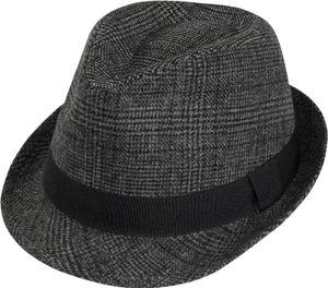 Trilby Hut gemustert in 2 Farben, Kopfgröße:L, Farben:dunkelgrau