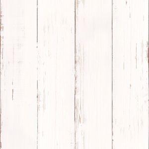 Superfresco Easy - Vliestapete - Holzbohlen - Weiß - 10m x 52cm