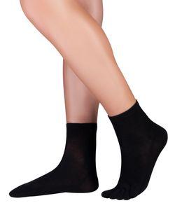 Knitido Dr. Foot Silver Protect antimikrobielle Kurzsocken, Größe:39-42, Farbe:schwarz (001)