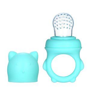 Babynahrung Feeder frisches Obst Gemüse Feeder Silikon Schnuller Beißring Kinderkrankheiten Spielzeug Nippel für Kleinkinder Kid leicht zu reinigen【Blau】