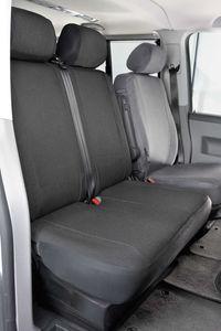 Walser Sitzbezüge für VW T4 Doppelbank vorne aus Polyester für BJ 10/1998 - 03/2003, 10471