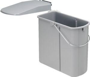 WESCO Einbau-Abfallsammler DT - flach, 19 Liter, alugrau