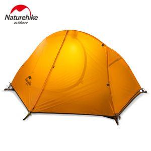 Fahrradrucksack Camping Zelt Ultraleicht 20D / 210T Für 1 Person,Farbe: Orange,Größe:Einheitsgröße