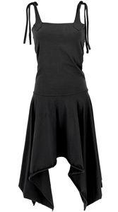 Wandelbares Goa Kleid, Psytrance Festival Kleid. Pixi Rock - Schwarz, Damen, Baumwolle,Elasthan, Lange & Midi-Kleider