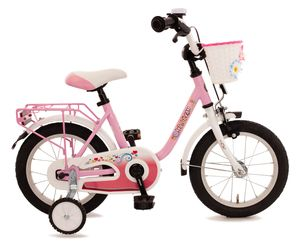 Kinderfahrrad 14 Zoll Rücktritt Fahrrad Kinder Rad Mädchen Mädchenfahrrad Pink