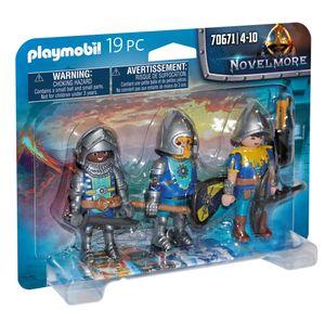 PLAYMOBIL Novelmore 70671 3er Set Novelmore Ritter