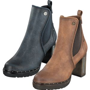 Mustang Stiefeletten 1336-501 Damen Ankle Boots, Größe:39 EU, Farbe:Blau