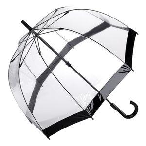 Fulton Glockenschirm Regenschirm  transparent durchsichtig schwarz