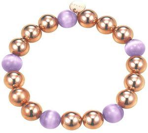 Esprit Bold Spheres Lavender Armband Edelstahl rosévergoldet mit Kristallquarz 16 cm ESBR11662B160