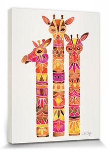 Giraffen Poster Leinwandbild Auf Keilrahmen - Giraffes, Cat Coquillette (80 x 60 cm)