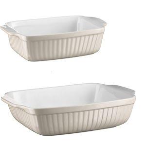 Mäser 931137 Kitchen Time Auflaufform, rechteckig, grau/weiß, 2-teilig (1 Set)