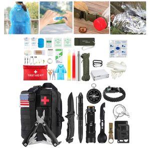 Outdoor Emergency Survival Gear Kit Wandern Militär SOS Erdbeben Schwarz Modern SOS-Kit 20 x 13 x 11 cm
