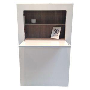 Phoenix Milano Schreibtisch aufklappbar BxHxT cm 81 x 128.5 x 20 Weiss / Eiche Sägerau